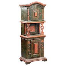 Danish Painted Oak Tobacco Side Cabinet