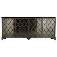 CARL MALMSTEN Swedish Grace Birch and Glass Front Sideboard Cabinet