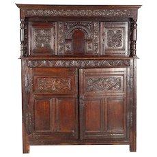 English Renaissance Oak Court Cupboard