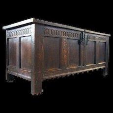 English William & Mary Period Oak Coffer