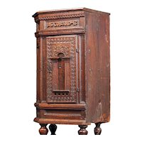 Swedish Baroque Wedding Oak Corner Cabinet