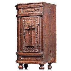 Swedish Baroque Wedding Oak Corner Cabinet