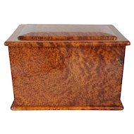 Vintage Solid Burled Birdseye Maple Jewelry Box