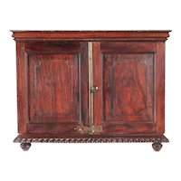 Anglo Indian William IV Rosewood Table-Top Stationery Cabinet