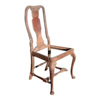 Rare Indo-Portuguese Queen Anne Rosewood Side Chair Frame