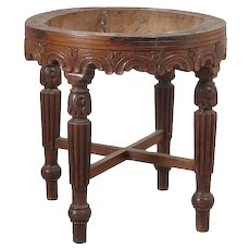 Anglo Indian Rosewood Round Stool Base