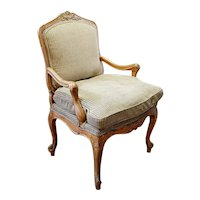 Swedish Gustavian Beechwood Upholstered Armchair
