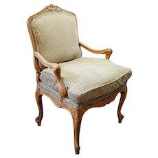 Swedish Gustavian Beechwood Upholstered Armchair