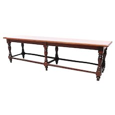 Large Anglo Indian Rosewood and Satinwood Bench / Low Table