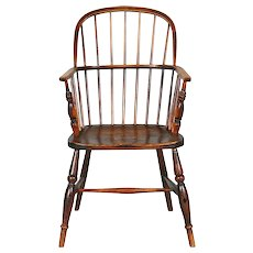 English Elm Sack Back Windsor Armchair