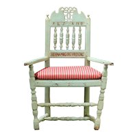 "Danish LARS ""HUGGER"" PEDERSEN Painted Birch Armchair"