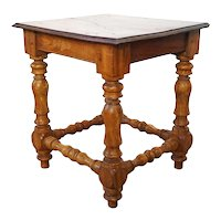 Indo-Portuguese Baroque Style Satinwood and Rosewood Stool or Side Table