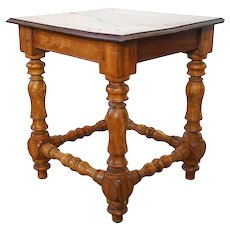 Small Anglo Indian Satinwood and Rosewood Stool or Side Table
