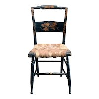 American Black Painted Hitchcock Side Chair