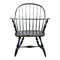 American Black Windsor Bowback Armchair