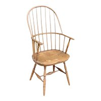 American Windsor Oak/Hickory and Pine Tall Sack Back Armchair