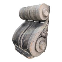 Neoclassical Terracotta Scrolled Architectural Corbel