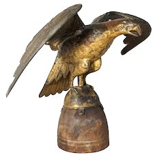American Gilt Copper Molded Spread-Wing Eagle Weathervane