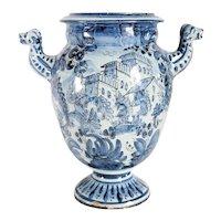 Vintage Italian Savona Majolica Pottery Apothecary Pharmacy Jar