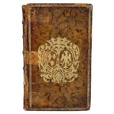 French Leather Bound Book: Sermons by Jean Baptiste Massillon