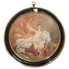 French School Miniature Cabinet Painting