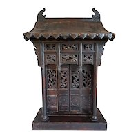 Chinese Shanxi Province Poplar Buddhist Shrine or Tablet House