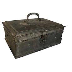 Anglo Indian Georgian Brass Desk Box