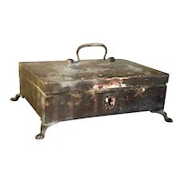 Anglo Indian Regency Patinated Brass Desk Box