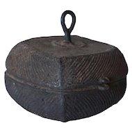 Small Indian Orissa Dhokra Work Heavy Bronze Box