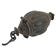 Small Indian Orissa Cast Bronze Dhokra Work Betel Nut Container