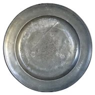 English Georgian Pewter Charger Plate
