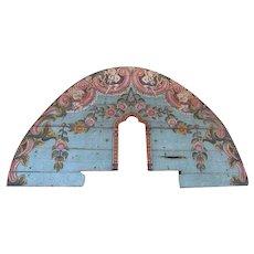 Important Portuguese Painted Teak Architectural Altar Fragment