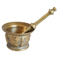 Early Spanish Bronze Mortar and Pestle