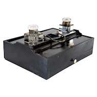 English Regency Ebonized Inkstand