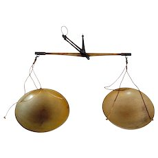 Danish Arbo-Bahr Brass and Horn Pharmacy Balance Scale