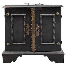 Dutch Ebonized Pine Miniature Table-Top Cabinet