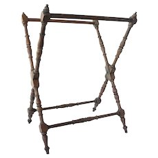 Antique Victorian Walnut Folding Luggage Rack