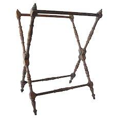 Antique Victorian Walnut Folding Luggage Rack
