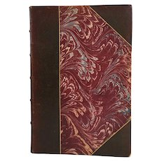 Half-Bound Leather Book: Great French Writers Turgot by Leon Say