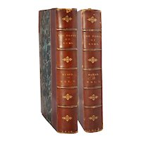 Leather Bound Books: Popes of Rome by Leopold von Ranke, Vol. I, II