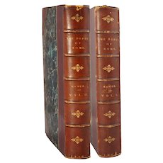 Leather Bound Books: Popes of Rome by Leopold von Ranke, Vol. I, II