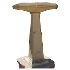 American Art Deco Period Glazed Terracotta Bird Bath