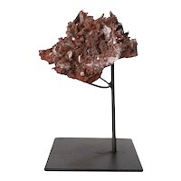 Small Crystal Rock Specimen with Custom Iron Stand