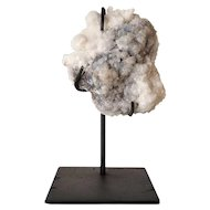 Small Crystal Rock Specimen with Iron Custom Stand
