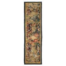 Flemish Baroque Tapestry Panel Fragment