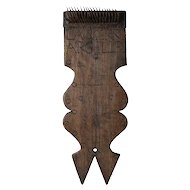 French Provincial Walnut and Forged Iron Hatchel