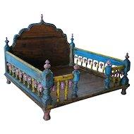 Indian Painted Teak Table-Top Shrine