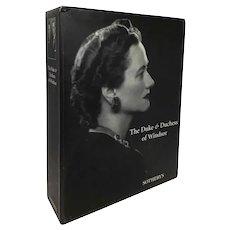 Boxed Set Three-Volume Sotheby's Auction Catalog: The Duke & Duchess of Windsor