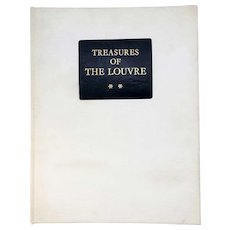 Vintage Art History Book: Treasures of the Louvre by Rene Huyghe