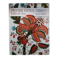 Vintage Book: Printed French Fabrics, Toiles de Jouy by Josette Bredif